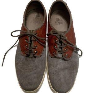 OTW gray and brown vans 10.5